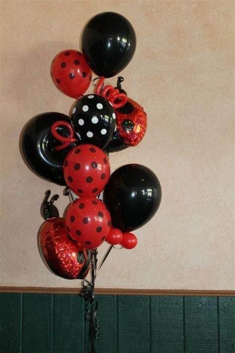 Ladybug ballons ladybug balloon bouquet girl birthday balloon ideas decorating pinterest