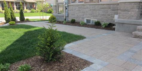 front entrance walkway manor landscaping