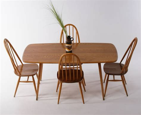 vintage ercol dining room table and chairs by iamia