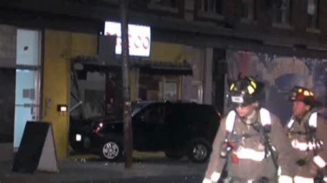 tattoo parlour west end vehicle crashes into tattoo shop and hits gas line in city