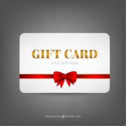 gift card template vector free