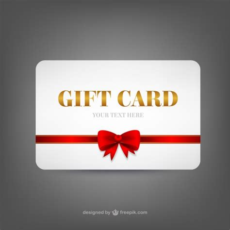 gift card box in a card template gift card template vector free