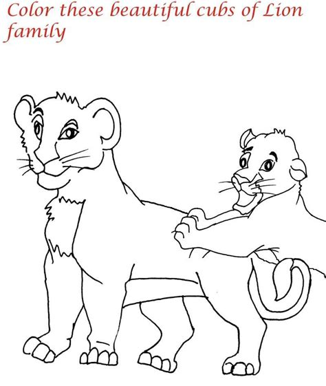 lion coloring page pdf lion family printable coloring page for kids 7