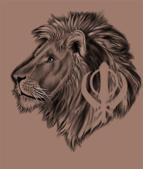khanda lion tattoo tattoo concept artwork pinterest