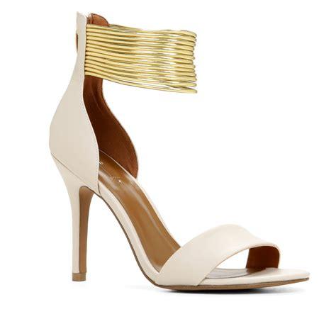 bone high heels aldo elvianne ankle high heel sandals in gold bone