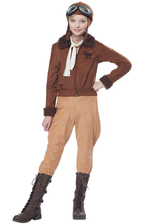 Dress Original Amelia Amelia Earhart Child Costume Purecostumes