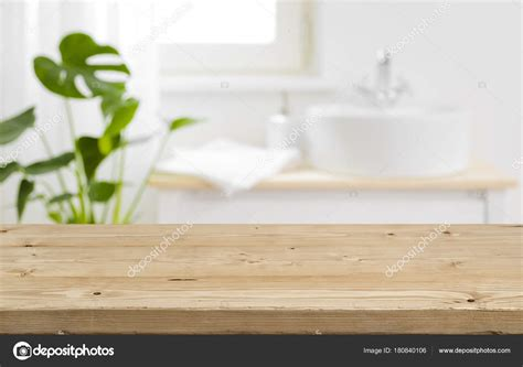 product background empty tabletop product display blurred bathroom interior