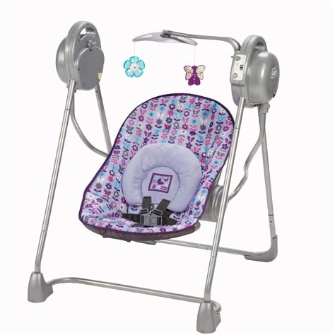 purple infant swing cosco sway n play swing marissa