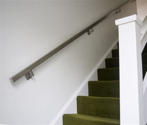 stainless steel banister rails brushed stainless steel metal banister stair handrail pre