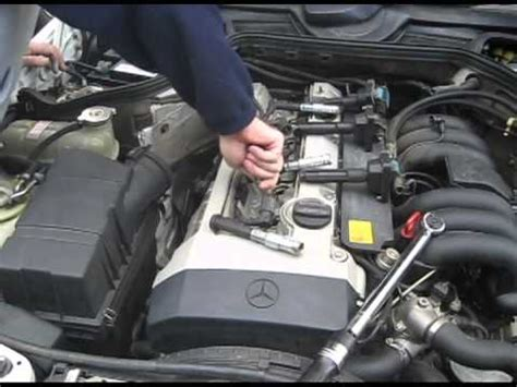removing and replacing spark plugs on a 1994 acura legend 1994 mercedes e320 spark plug replacement m104 engine w124 chassis youtube