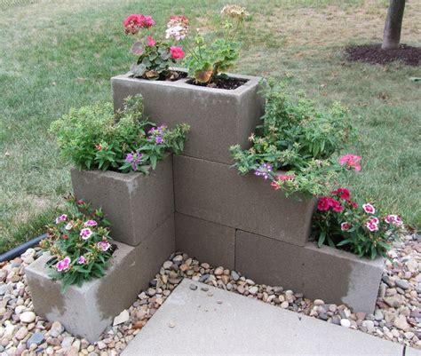 Cement Block Planters by Best 25 Cinder Blocks Ideas On Cinder Block