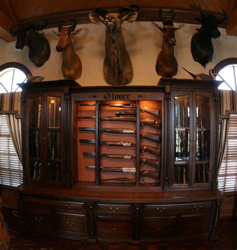 Handmade Gun Cabinet - custom 24 gun deluxe gunsafe amish custom gun cabinets