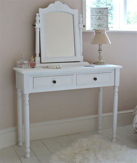 white bedroom dressing table camille range white two drawer dressing table and mirror