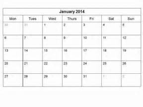 Monthly Calendar Templates 2014 by Free 2014 Monthly Calendar Template