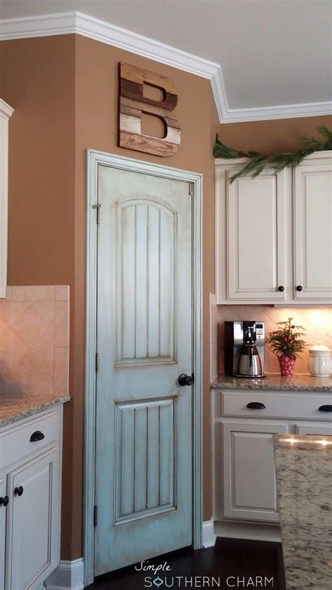 kitchen pantry doors ideas aqua pantry door update simple southern charm