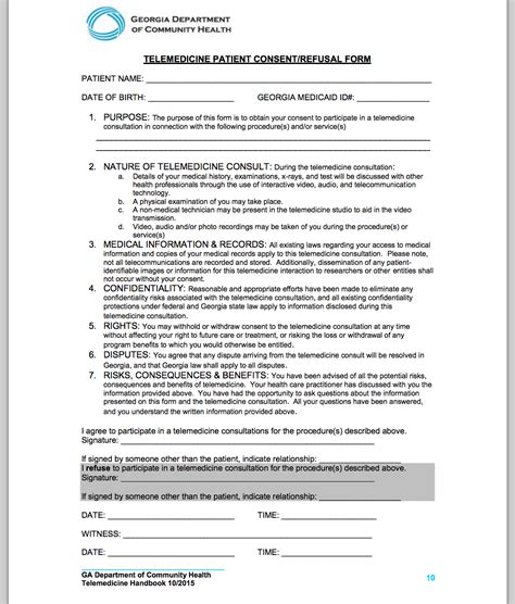 consent form telemedicine informed patient consent done the right way