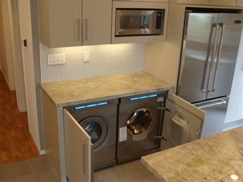 washer dryer in kitchen kitchen laundry