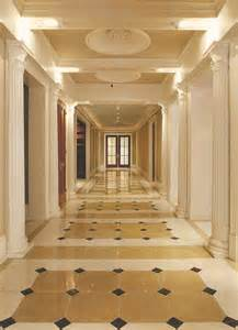 Tile Over Concrete Patio Marble Floor Grand Hallway Traditional Hall