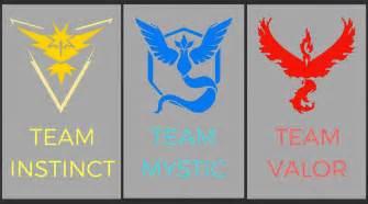 Explaining the pok 233 mon go teams instinct valor and mystic finder