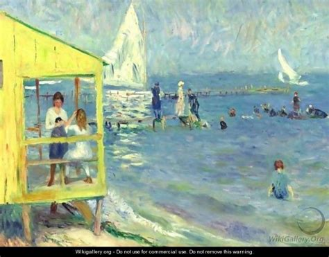house painters long island yellow bath house and sailboat bellport long island william glackens wikigallery