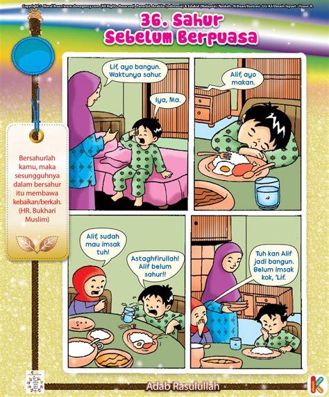 Komik Anak Jld 1 komik adab keberkahan sahur ebookanak muslim and itu