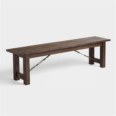 wooden bench for dining room table wood garner dining bench world market
