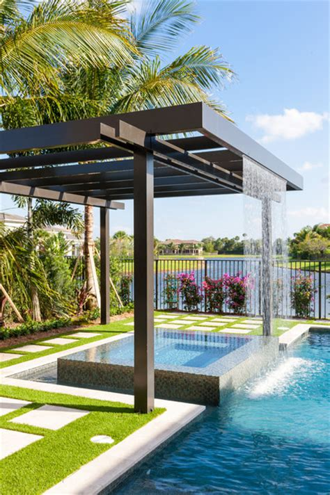 Dining Room Tables Miami by Trellis Pergolas Contemporary Pool Miami By