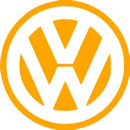 orange volkswagen icon  orange car logo icons