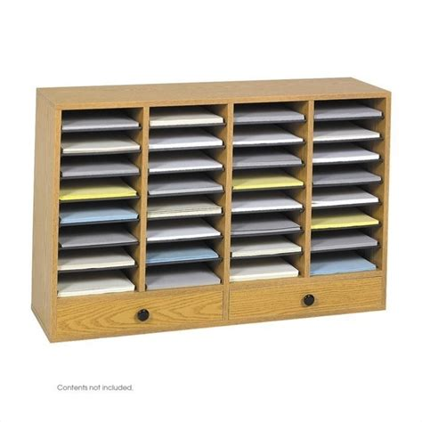 Drawer File Organizer by Medium Oak 32 Compartment File Organizer With Drawer 9494mo