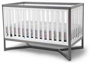 Modern Grey Crib Delta Tribeca 4 In 1 Crib White And Gray Modern Cribs