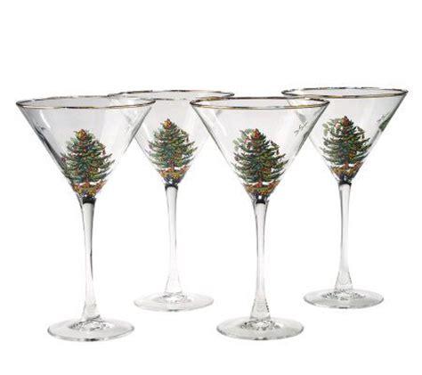 spode glasses spode tree set of 4 martini glasses qvc