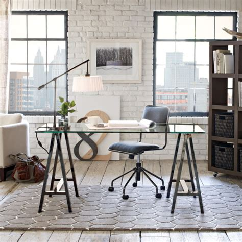 west elm sawhorse trestle work table