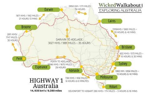 map around australia how does it take to road trip australia on highway 1