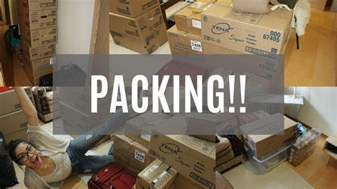 packing and moving packing up my stuff moving vlog youtube