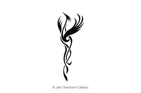 tribal phoenix black by jonzicow on deviantart