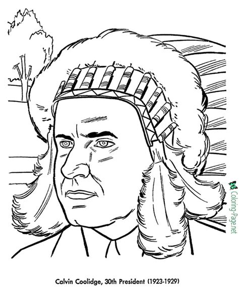 us presidents coloring pages calvin coolidge