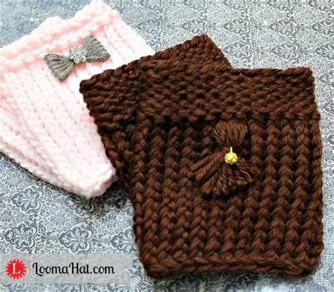 free knitting patterns for boot cuffs loom knit boot cuffs free pattern and