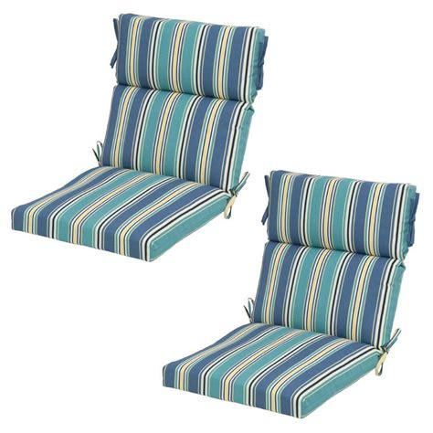 Home Depot Chair Cushions - hton bay rainforest stripe outdoor dining chair cushion