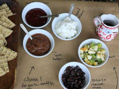 toppings for waffle bar how to set up a waffle bar in 3 easy steps fn dish