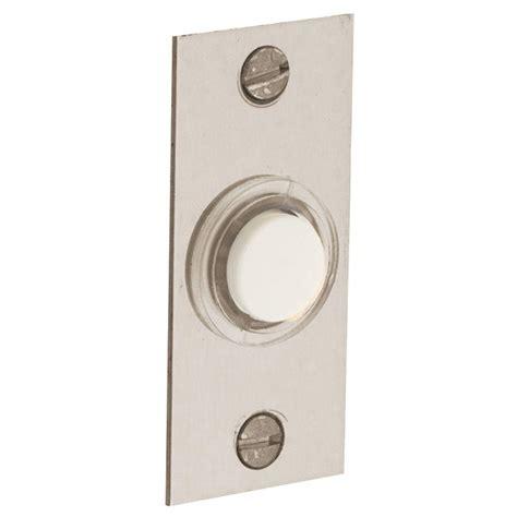 baldwin 2 5 in rectangular wired lighted doorbell button