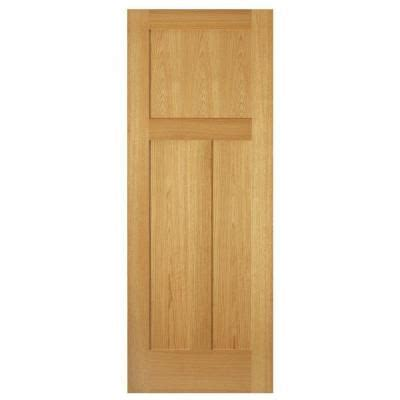 Steves And Sons Interior Doors Steves Sons 32 In X 80 In 3 Panel Mission Unfinished Oak Interior Door Slab Oak