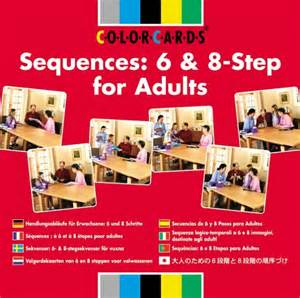 colorcards 174 sequences 6 8 step for adults mayer johnson