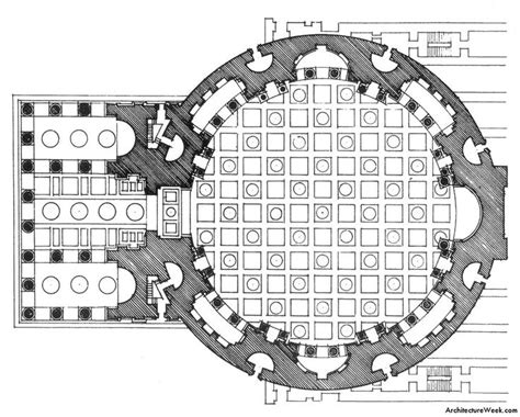 floor plan of the pantheon roma templa pinterest