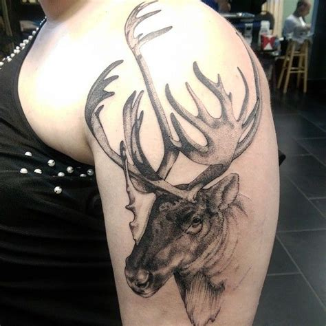 moose tattoo shoulder graphic moose best ideas gallery