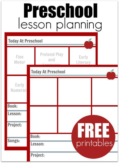 Galerry free printable lesson plan for preschool