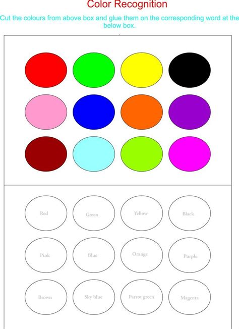 color worksheets color recognition worksheets for preschoolers working