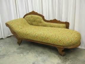 antique oak vistorian sofa lounge chaise fainting