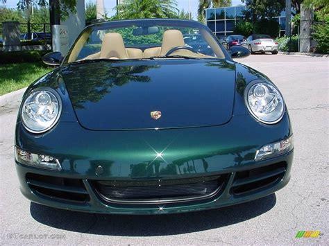 dark green porsche 2006 forest green metallic porsche 911 carrera cabriolet