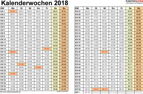 Word Vorlage Jahreskalender 2018 Kalenderwochen 2018 Mit Vorlagen F 252 R Excel Word Pdf