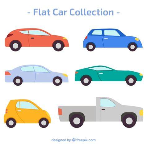 car layout vector collection of cars in flat design vector free download